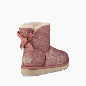 New UGG Mini Bailey Bow Pink Sparkle Boots